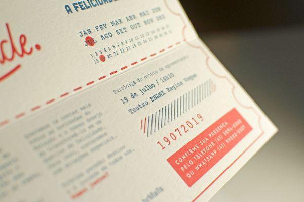 Convites em letterpress